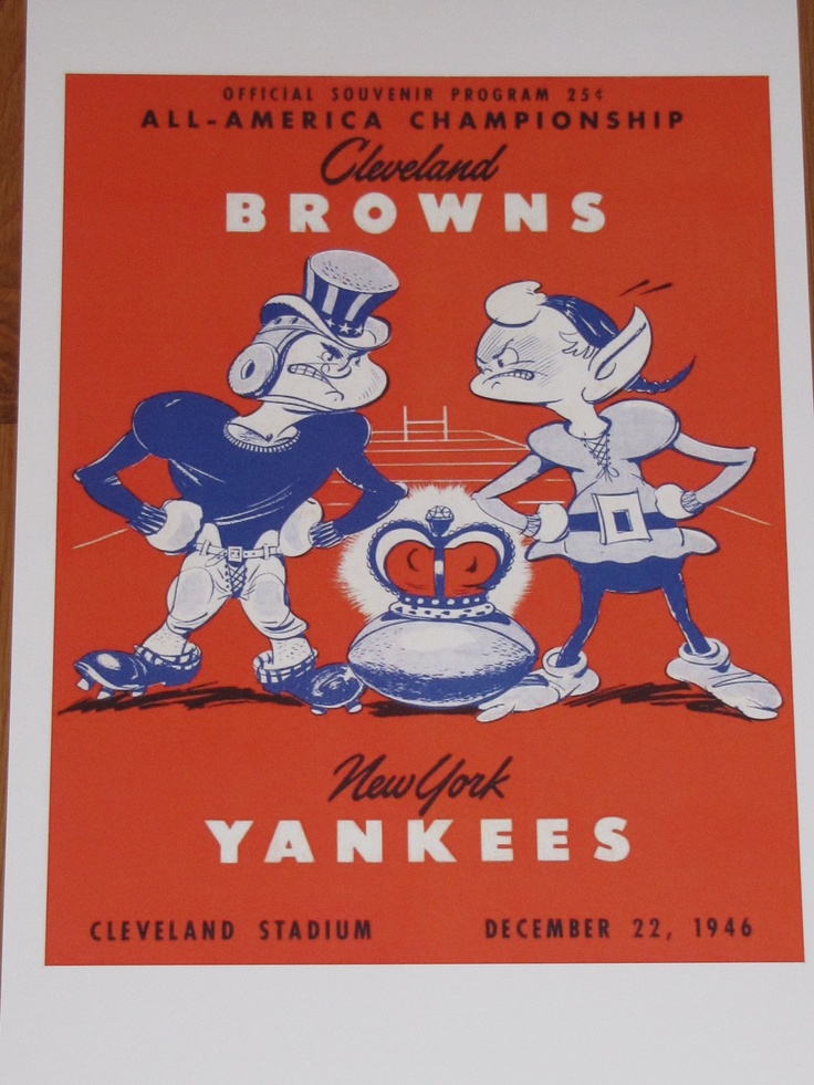 Cleveland Browns 1946 AAFC Championship Game Poster Otto Graham | eBay