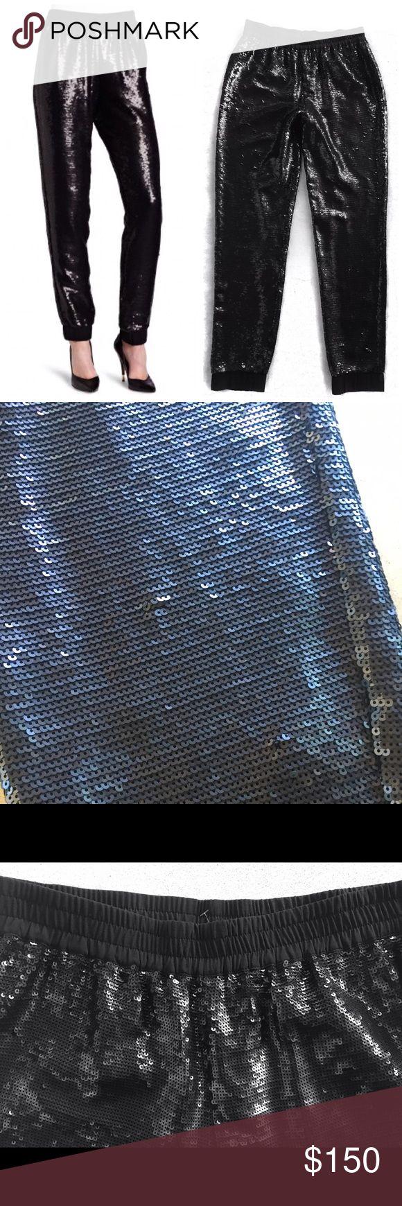 BCBC MAX AZRIA ZHARA BLACK SEQUINED PANTS SZ M BCBC MAX AZRIA  ZHARA BLACK SEQUINED PANTS  SZ M RETAILS $398 BCBGMaxAzria Pants Skinny