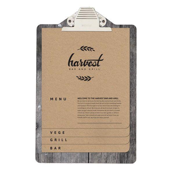 Harvest Bar & Grill Branding  by Melissa Hawkett, via Behance