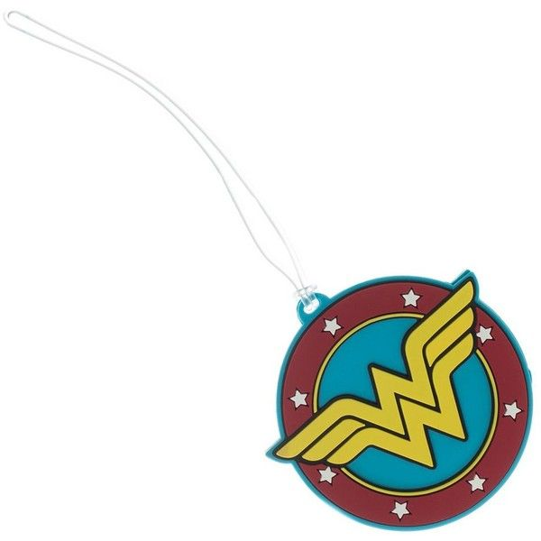 DC Comics Wonder Woman Logo Luggage Tag, Blue ($13) ❤ liked on Polyvore featuring bags, luggage, accessories, jewelry and blue
