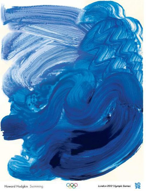 Howard Hodgkin | Swimming (Olympic Games Poster) (2011) | Available for Sale | Artsy