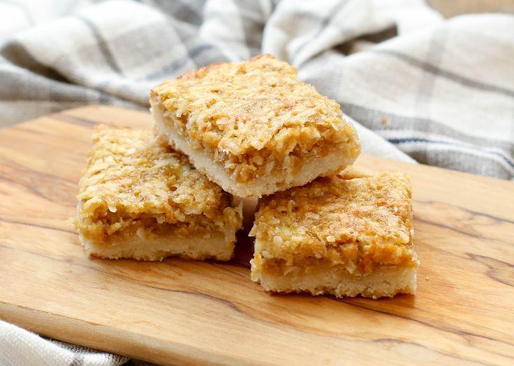 Coconut Shortbread Chews are a coconut lover's dream come true! get the recipe at barefeetinthekitchen.com