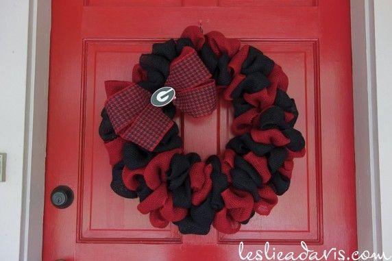UGA Georgia Bulldogs Wreath