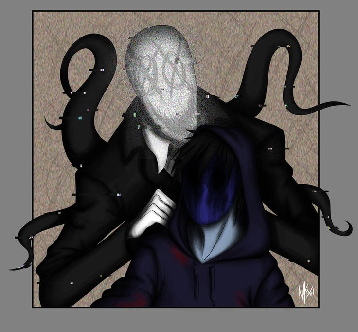 Eyeless Jack tried to take a selfie with Slenderman