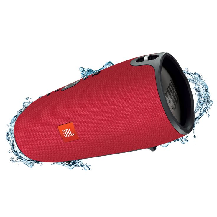 JBL Xtreme refurbished Red-EMEA  JBL Xtreme is de ultieme draagbare Bluetooth luidspreker die weergaloos en krachtig stereogeluid levert door de integratie van de vier actieve transducers en twee zichtbare JBL Bass Radiatoren. De luidspreker beschikt over een sterke oplaadbare 10.000mAh Li-ion batterij voor maximaal 15 uur speeltijd en een dubbele USB-poort voor urenlang luisterplezier omdat je ondertussen je apparaten kunt opladen. Met de JBL Xtreme kun je overal een feestje van maken…