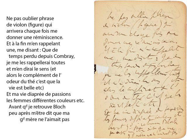 Agenda 1906, Proust, notes