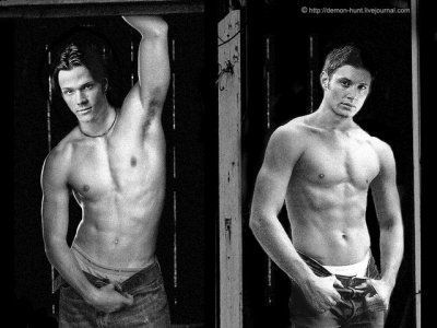 Jared Padalecki & Jensen Ackles Shirtless by male_shirtless_fan, via Flickr
