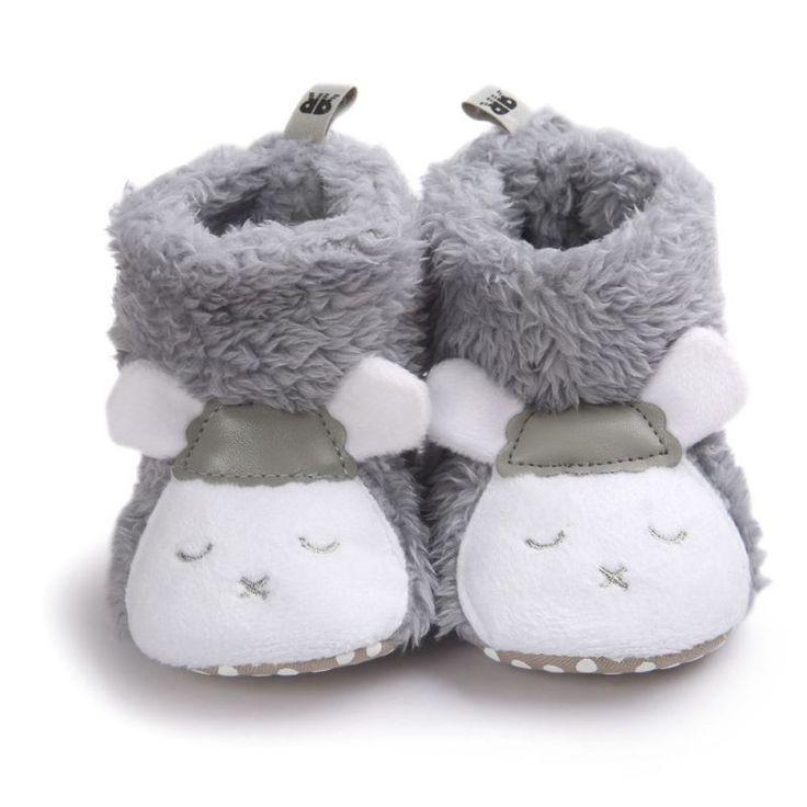 Velvet Boots Winter Baby Booties Animals