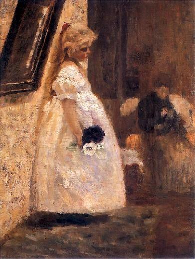 Olga Boznańska | Imieniny babuni/ Granny's name-day,   1889, oil on canvas, 79 x 60 cm, Muzeum Narodowe, Warszawa