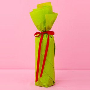 Tissue paper to wrap a wine bottle!