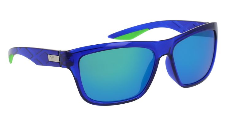 Puma PU0060S-006 58 Transparent Shiny Blue Fluorescent Green Multi-Layer Yellow Green Double Mirror Rectangular Square Sunglasses  #Lenses #sunglasses #from #ALL #glasses #designer #IN #buy #ON #with