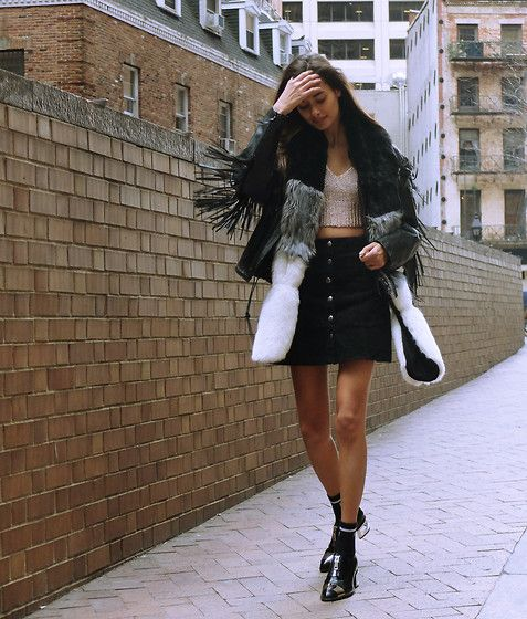 Gizele Oliveira - Missguided Top, Missguided Scarf, Jeffrey Campbell Shoes - Cold spring