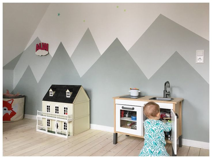 Berglandschaft fürs Kinderzimmer