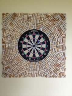 dartboard with wine cork backsplash google search 37 o basement game table chairs. Black Bedroom Furniture Sets. Home Design Ideas