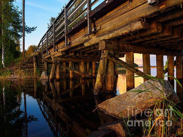 Wooden Bridge And The Sunset In Kangaslampi / Finland by Ismo Raisanen #art #fineartphotography #photog #deals #Ismoraisanen