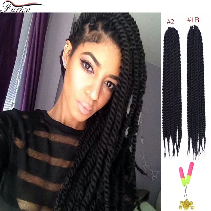... Crochet Twist Hair Box Braids Hair #1B Natural Havana Twist Crochet