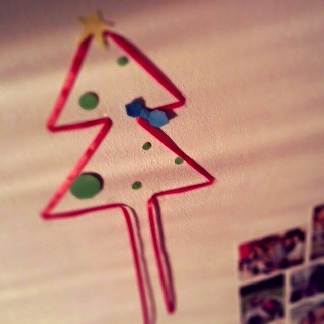 My lowly Christmas tree! This is as luxurious as it gets! #CollegeLife #I'mGoingHomeAnyways
