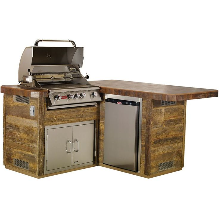 Gourmet Q Outdoor Grill Island By Bull Outdoor Products: The Little-Q L-Shaped BBQ Island From Bull Outdoor