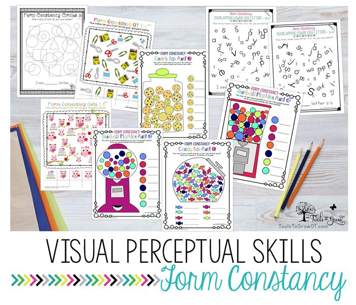 VISUAL PERCEPTION:Form Constancy activities, resources