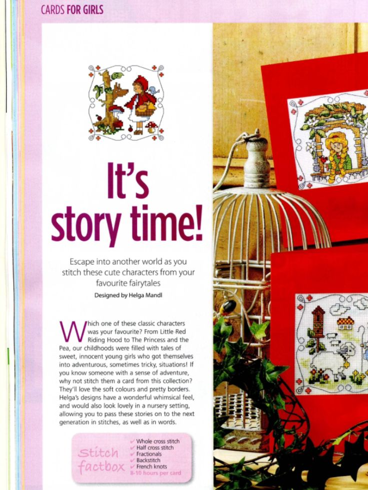Fairytale Characters 1/2 Cross Stitch Card Shop Issue 88 January/February 2013 Saved