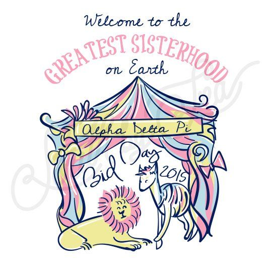 Sorority Recruitment Alpha Delta Pi Circus Tent Lion South By Sea