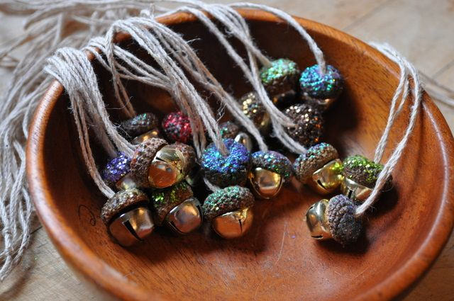 Autumn Equinox:  Acorn Bells for the Autumn Equinox (tutorial). You could modify this to be a bracelet or anklet for kids to wear when they go running through the woods (or your backyard!)