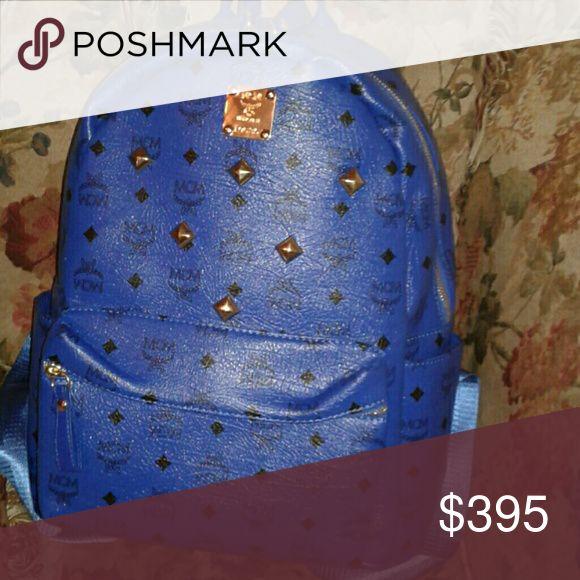 MCM bookbag blue and real MCM Bags Backpacks