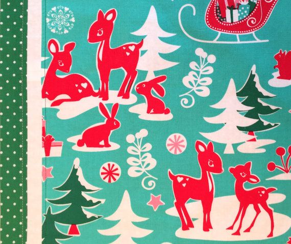 Christmas midcentury table runner with Michael Miller by SKAShop