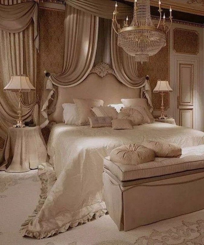 Luxury master bedroom ideas glamour and romantic 12 ...