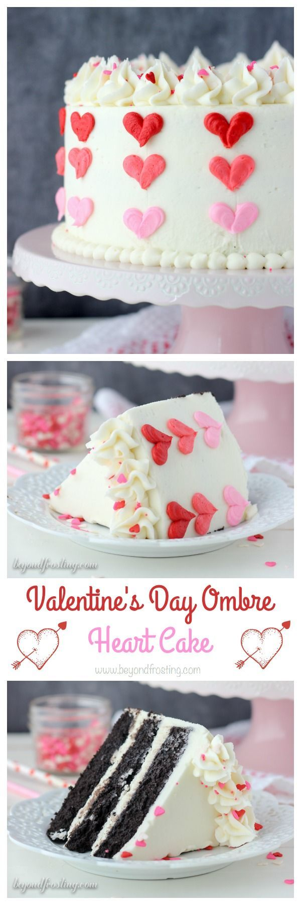 Follow these few easy tips to make this adorable Valentine's Day Ombre Heart Cake.