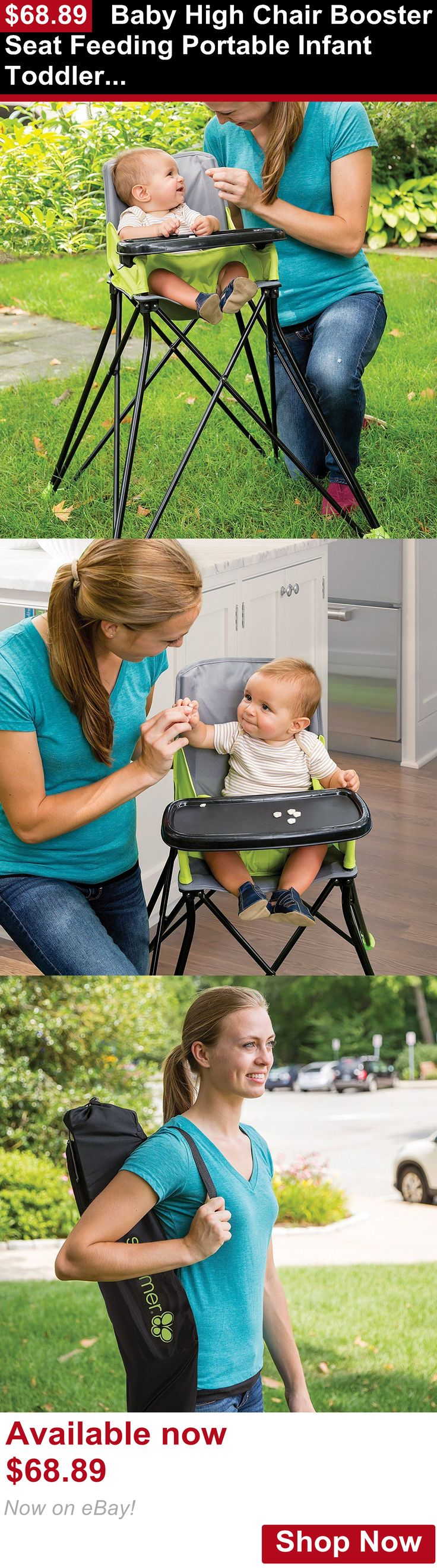 Baby High Chairs: Baby High Chair Booster Seat Feeding Portable Infant Toddler Folding Highchair BUY IT NOW ONLY: $68.89