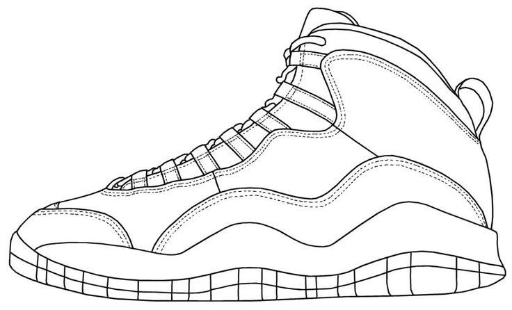 10 best Jordan coloring images on Pinterest   Air jordan ...