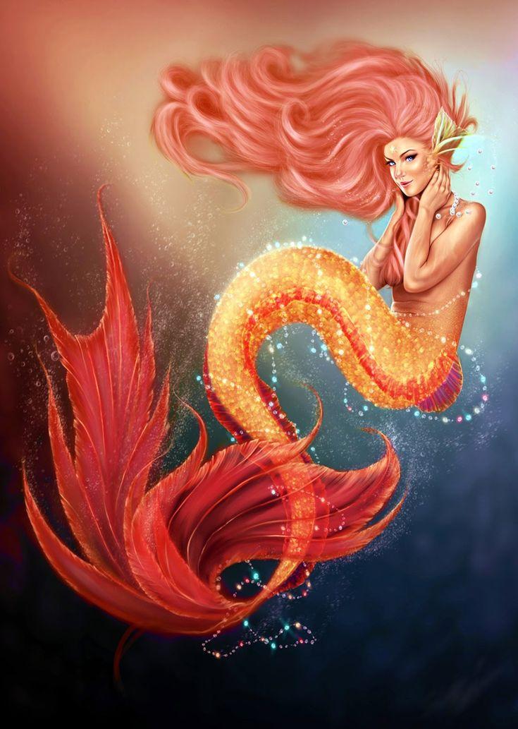 dekupaj deniz kızı resimleri, dekupaj deniz teması, deniz kızı, deniz kızı art, insan figürleri portreler, mermaid, mermaid art, mermaid diana martin, posterler, sanatsal tasarımlar,