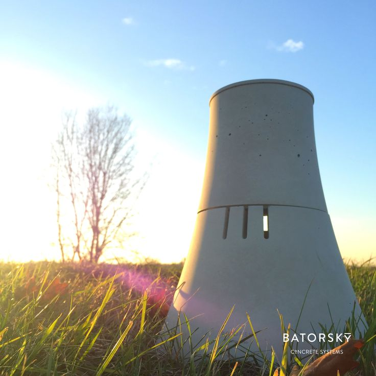 Let's have some fresh air. H2O concrete diffuser #batorsky #concrete #chimney #diffuser