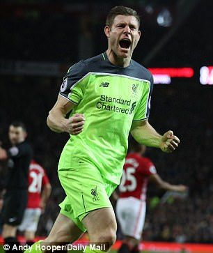 James Milner became Liverpool's first choice left-back last season