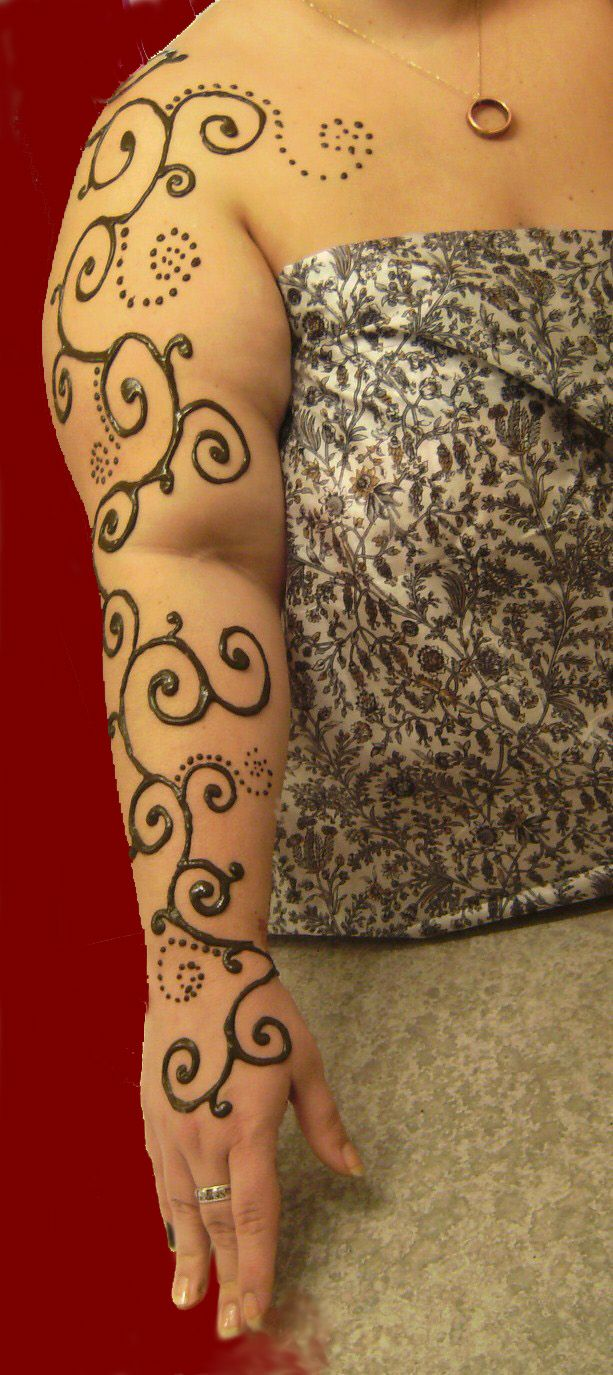 Henna Sleeve Tattoo Full sleeve henna artHenna Tattoo Arm Sleeve