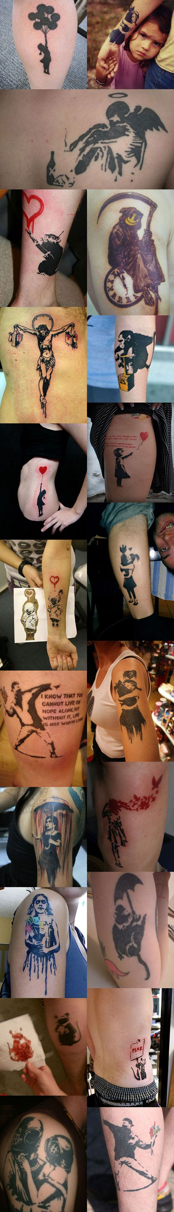Cool tattoos inspired by Banksy