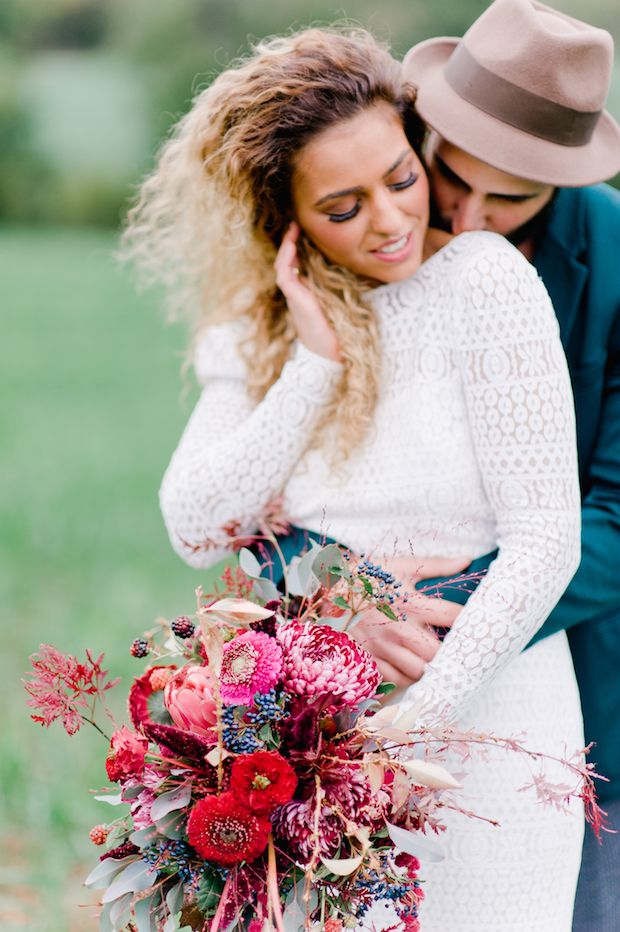 Beautiful eclectic boho wedding by Nadia Meli Photography // www.onefabday.com