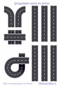 Delen van de weg.