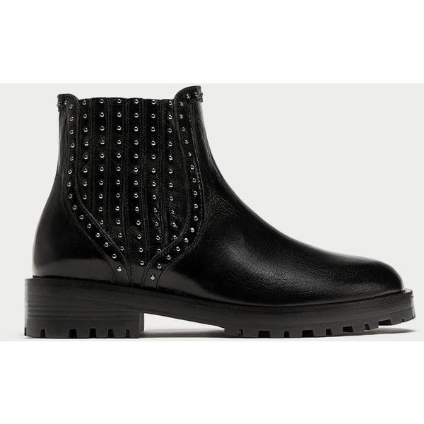FLAT LEATHER CHELSEA BOOTS WITH STUDS