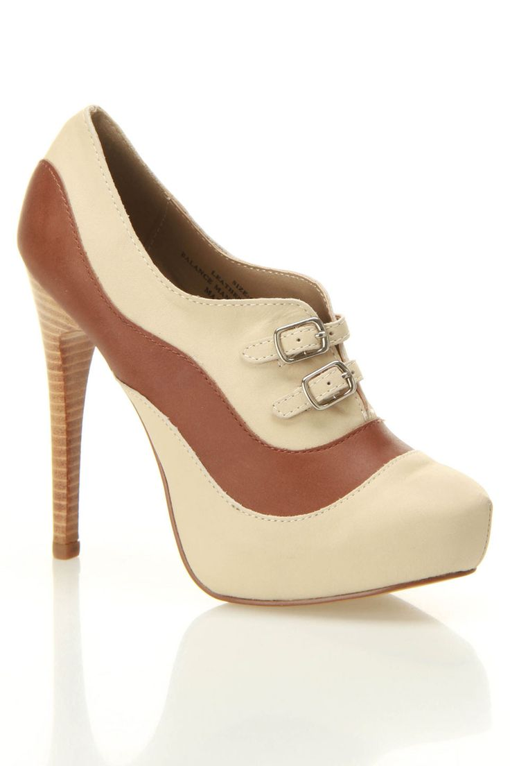 Restricted Genius Pumps In Natural heels shoes