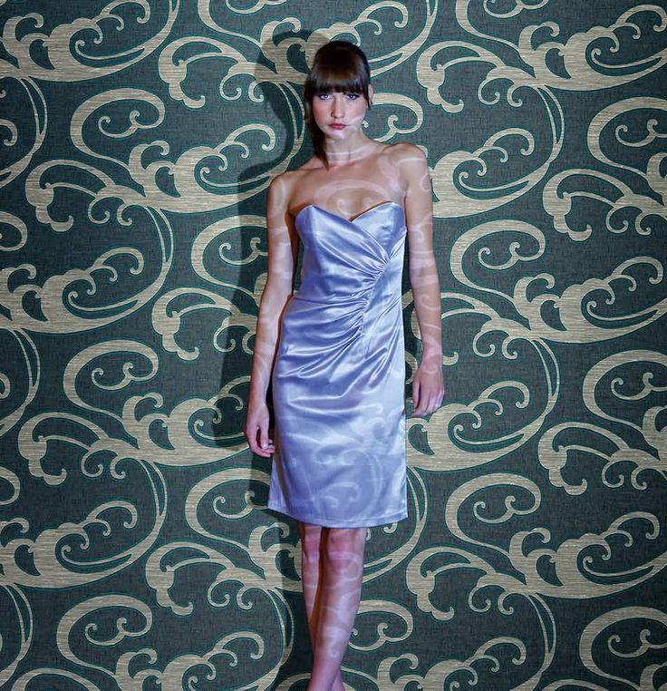 Groen: Woven prints perfect for a modern design scheme.