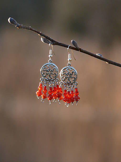 Sharon.handmade / Etno červené náušnice