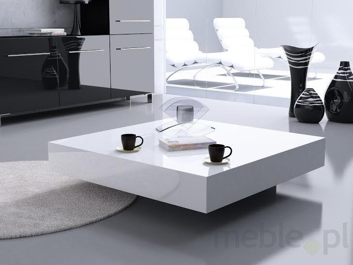 Stolik Big Quadrat 100 biały czarny 35, D2 - Meble