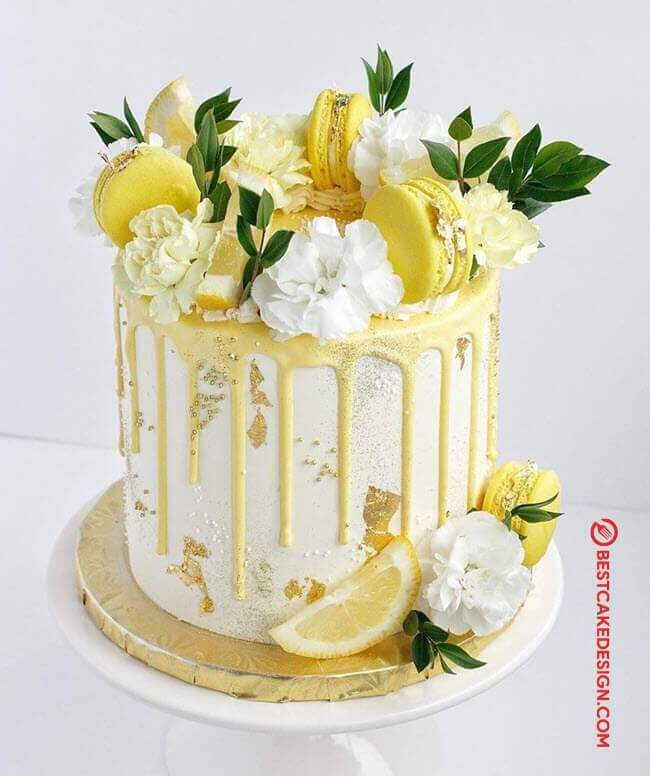 50 Lemon Cake Design Cake Idea October 2019 Lemon Birthday Cakes Lemon Wedding Cakes Yellow Birthday Cakes