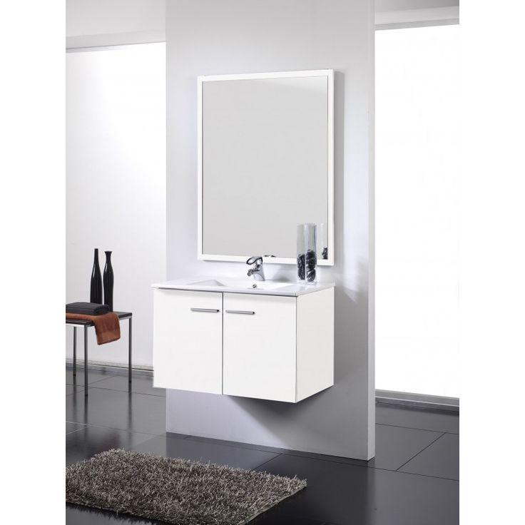 oferta mueble de bao blanco puertas suspendido incluye lavabo