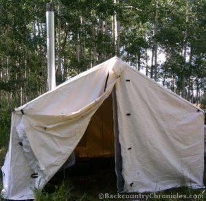 canvas wall tent stall