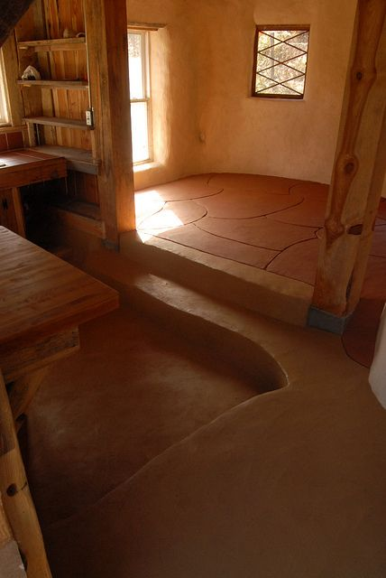 Warm light and earthen floor. I'd want mine to be level though with little kids.