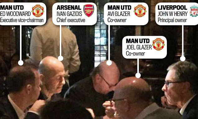 The night Arsenal, Liverpool and Man United chiefs met NYC