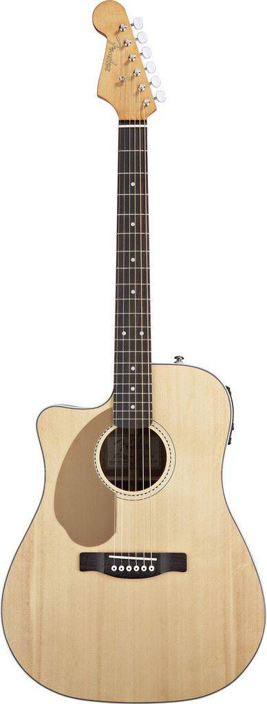 Fender Sonoran SCE Left-Handed Acoustic Guitar Natural